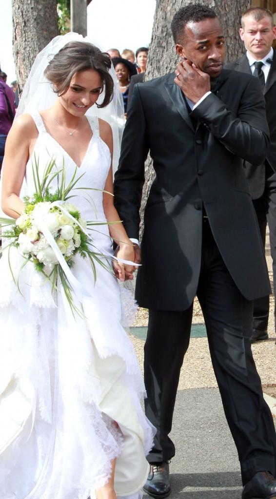 Mariage de Sydney Govou et sa compagne Clémence Catherin, le 18 juin 2011 à Replonges.
