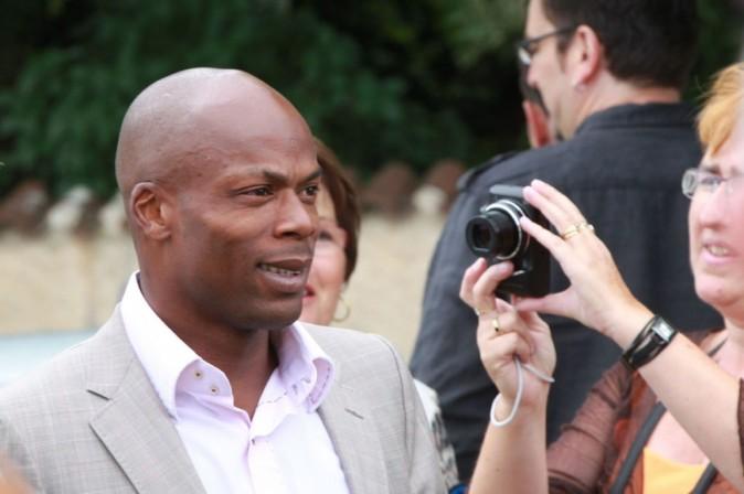 Sylvain Wiltord lors du mariage de Sydney Govou et sa compagne Clémence Catherin, le 18 juin 2011 à Replonges.