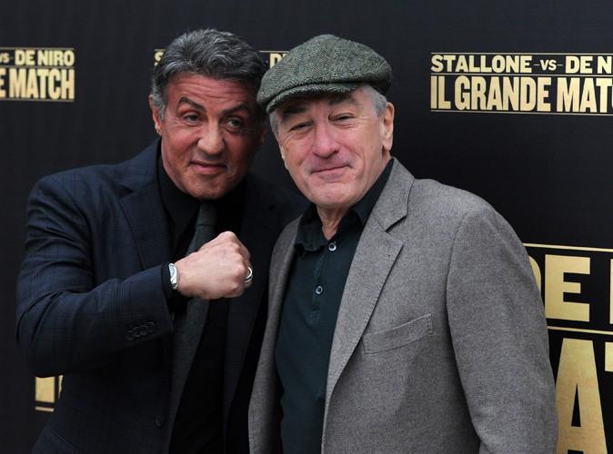 Sylvester Stallone et Robert De Niro à Rome le 7 janvier 2014