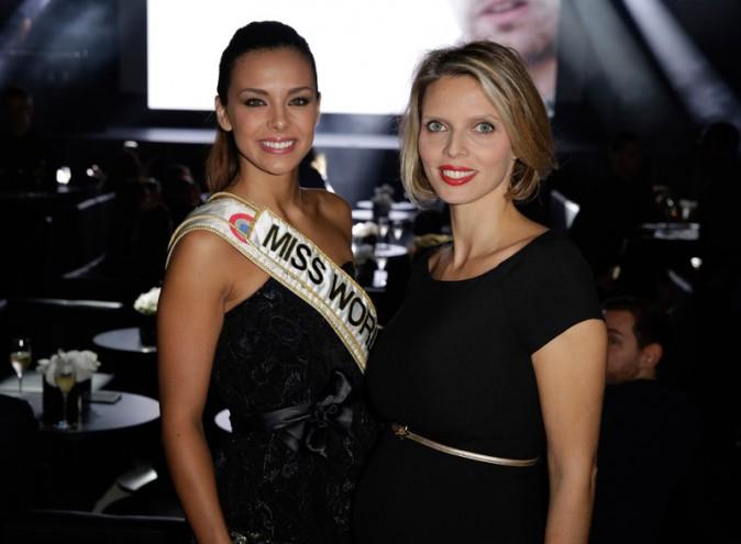 Marine Lorphelin et Sylvie Tellier à la soirée de l'Invictus Award organisée au palais de Tokyo, à Paris, le 24 octobre 2013