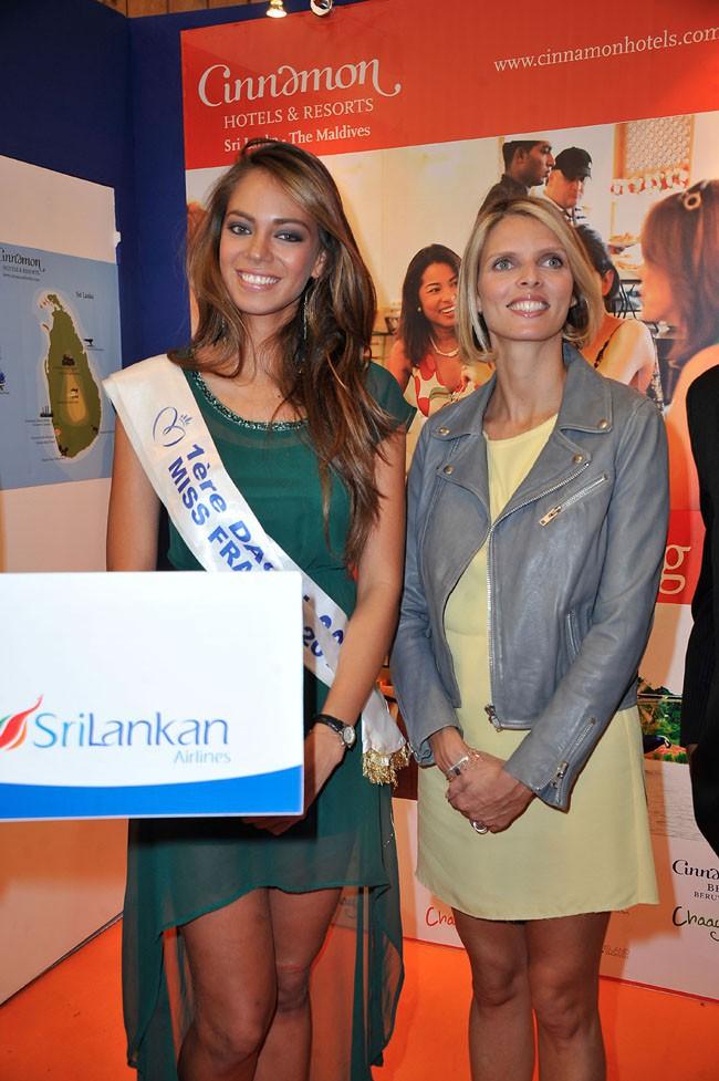 Hinarani de Longeaux et Sylvie Tellier au salon Top Resa à Paris le 25 septembre 2013