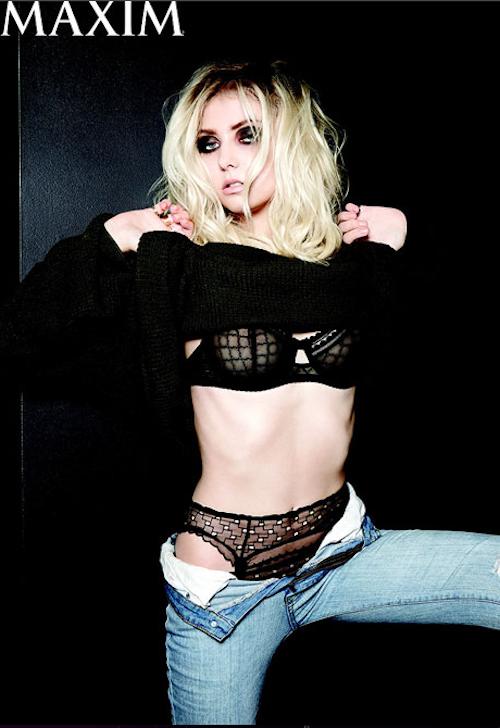 Taylor Momsen, Maxim, nue, sexy, trash, sous-vêtements