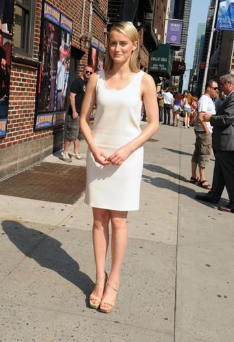 Taylor Schilling à New York le 22 juillet 2014