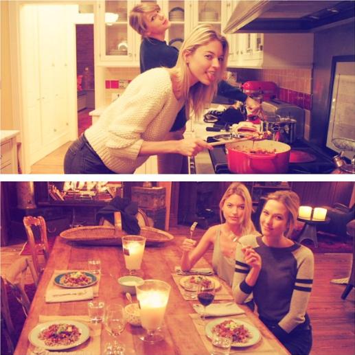 Taylor Swift, Karlie Kloss et Martha Hunt