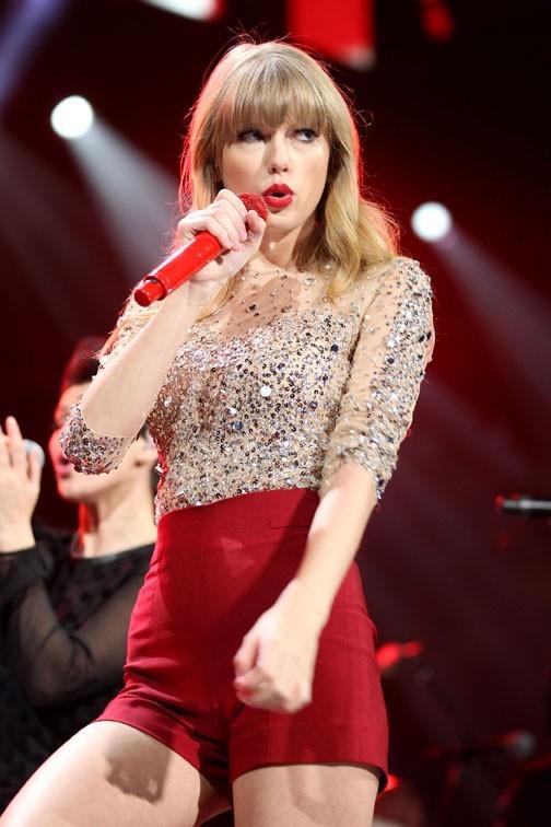 Taylor Swift au Madison Square Garden de New-York le 7 décembre 2012