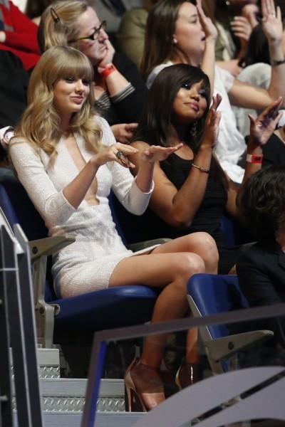 """Taylor Swift lors de la soirée """"40 Principales Awards"""" à Madrid, le 24 janvier 2013."""
