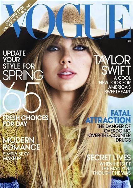 Taylor Swift en couverture de Vogue a beaucoup moins vendu qu'Adele ou Lady Gaga !