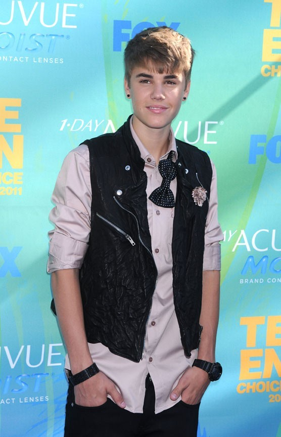 Justin Bieber lors des Teen Choice Awards 2011 à Los angeles, le 7 août 2011.