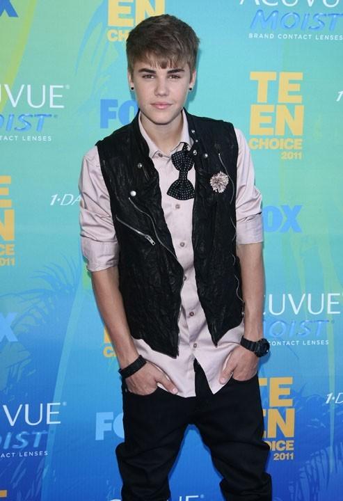 Justin Bieber lors des Teen Choice Awards à Los Angeles, 7 août 2011.