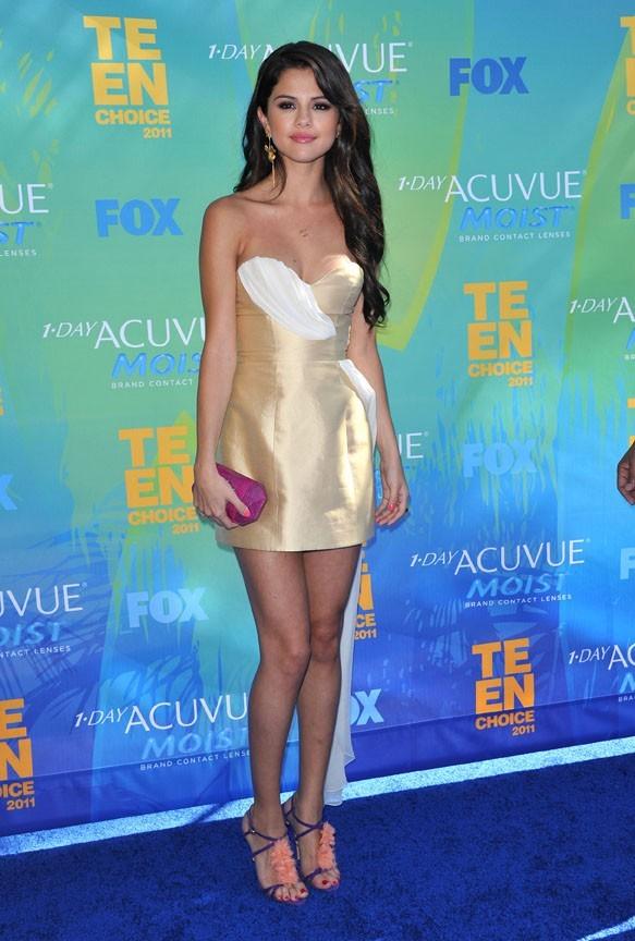 Selena Gomez lors des Teen Choice Awards 2011 à Los Angeles, le 7 août 2011.