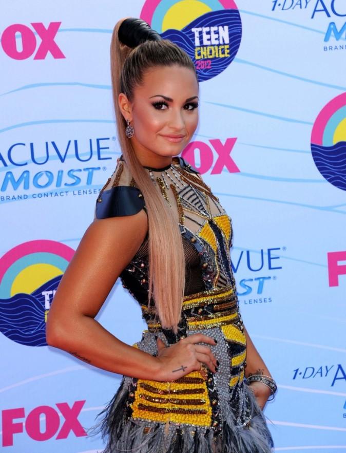 Demi Lovato lors des Teen Choice Awards 2012, le 22 juillet 2012.