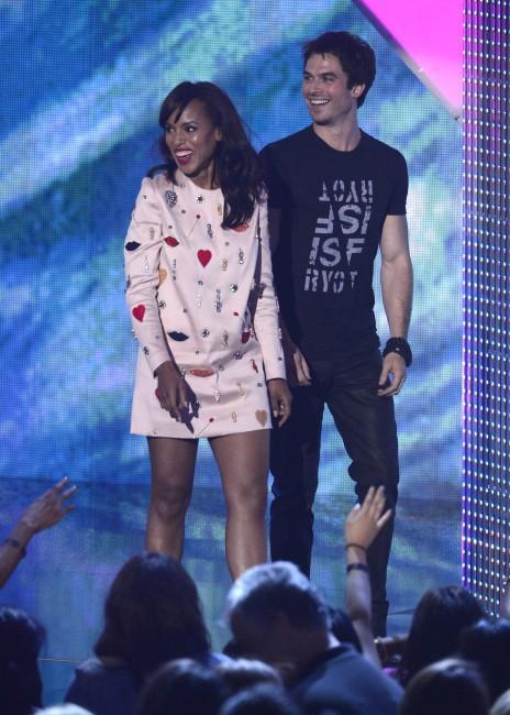 Kerry Washington et Ian Somerhalder lors des Teen Choice Awards à Los Angeles, le 11 août 2013.