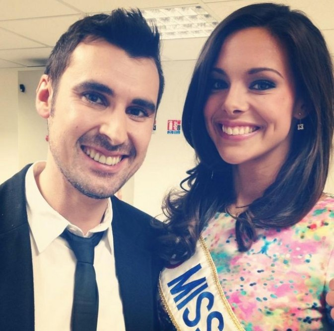 Avec Marine Lorphelin, Miss France 2013