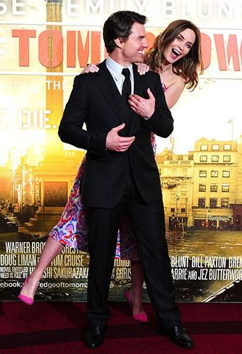 Emily Blunt et Tom Cruise à Londres le 27 mai 2014