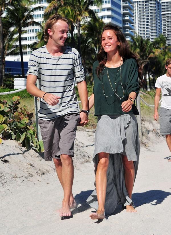 Tom Felton et Jade Olivia à Miami !