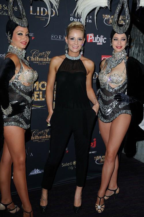 Elodie Gossuin lors du concours Top Model Belgium à Paris, le 23 novembre 2014