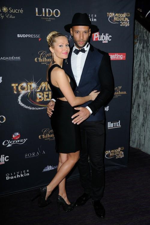 Tatiana Laurens et Xavier Delarue lors du concours Top Model Belgium à Paris, le 23 novembre 2014