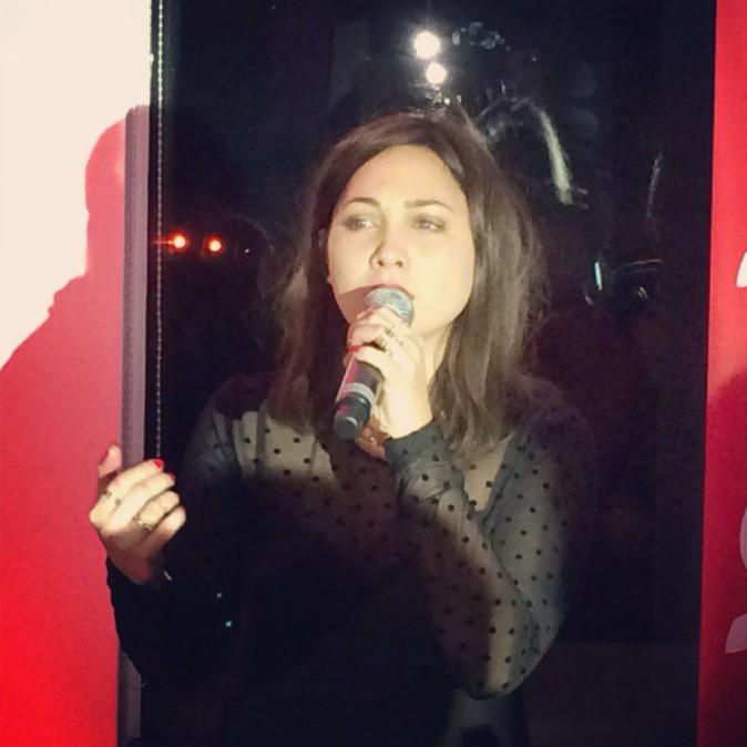 Leslie lors de la tournée Pop Love Chérie fm à Paris, le 29 janvier 2013.