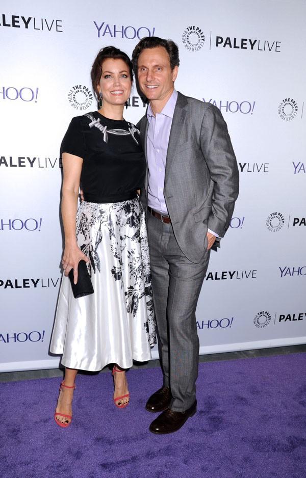 """Bellamy Young et Tony Goldwyn à la soirée """"Scandal"""" organisée le 14 mai 2015 à New-York"""