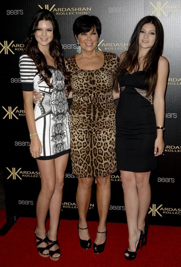 Et pour leur maman qui pose avec Kendall et Kylie !