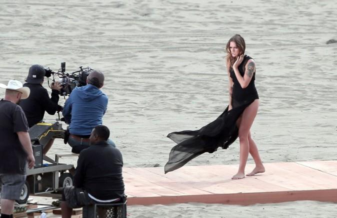 Tove Lo sur le tournage de son nouveau clip à Los Angeles le 11 mars 2015
