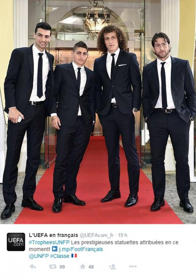 Javier Pastore, Marco Verratti, David Luiz et Maxwell