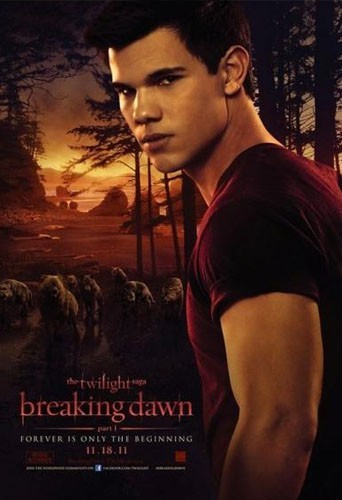 """Taylor Lautner sur l'affiche du film """"Twilight Chapitre 4 : Révélation - part 1"""" !"""