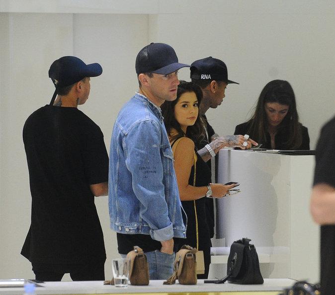 Tyga et Demi Rose à Cannes le 20 mai chez Saint Laurent