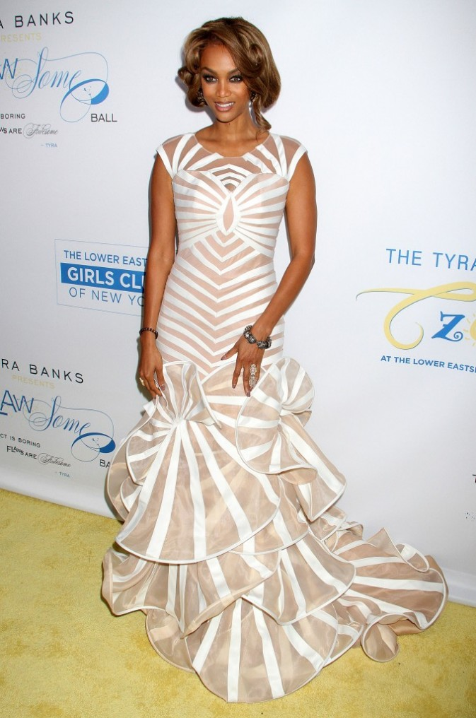 Tyra Banks lors du Flawsome Ball à New York, le 18 octobre 2012.