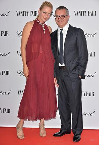Uma Thurman et Luca Dini à Venise le 31 août 2014