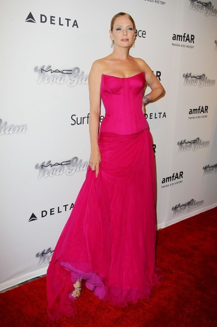 Uma Thurman lors de l'amfAR Inspiration Gala à New York, le 13 juin 2013.