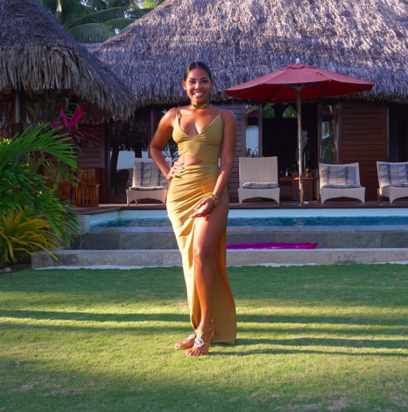 Kasi Bennett en vacances à Bora Bora avec Usain Bolt