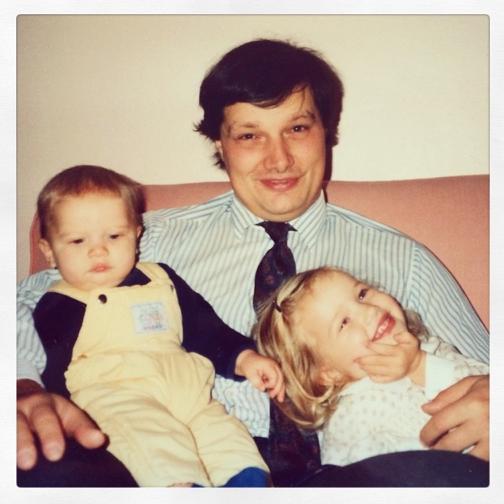 Rosie Huntington Whiteley et son papa
