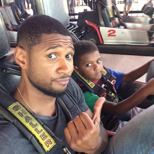 Usher et son fils