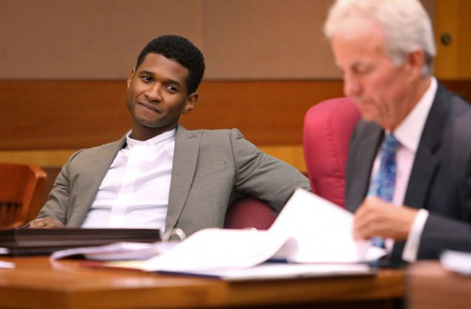 Usher au tribunal d'Atlanta le 9 août 2013