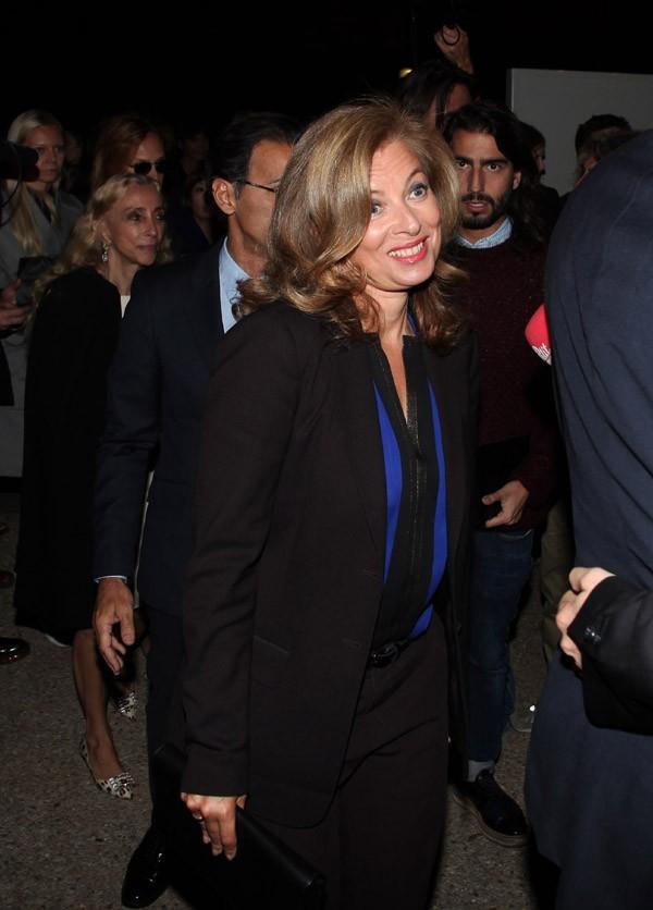 Valérie Trierweiler au défilé Yves Saint Laurent à Paris le 1 er octobre 2012
