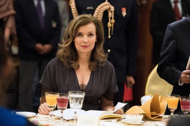 Valérie Trierweiler le 14 février 2013 à New Delhi