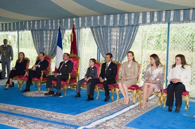 François Hollande et Valérie Trierweiler en voyage officiel au Maroc