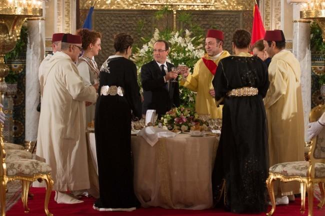 François Hollande et Valérie Trierweiler ont été accueillis comme des pachas !