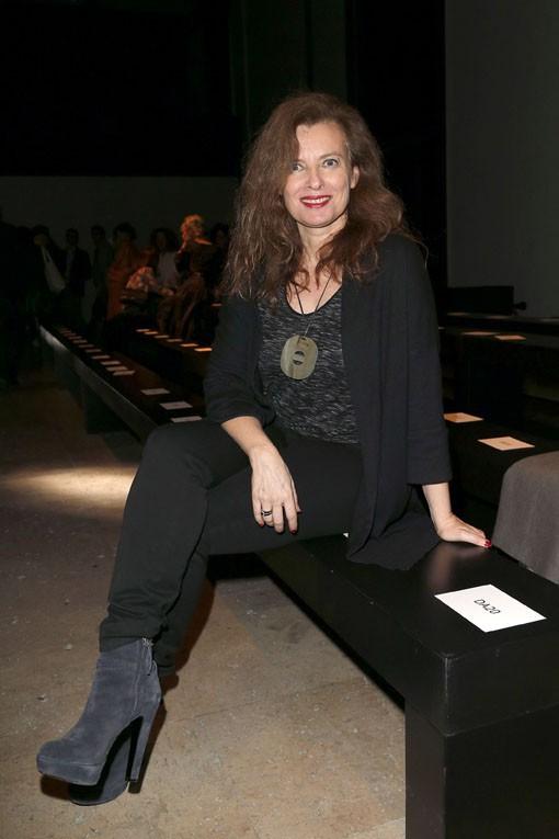Valérie Trierweiler au défilé Paul & Joe organisé au Palais de Tokyo le 10 mars 2015