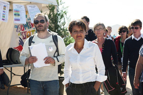 Najat Vallaud-Belkacem lors de la Journée des oubliés des vacances le 20 août 2014