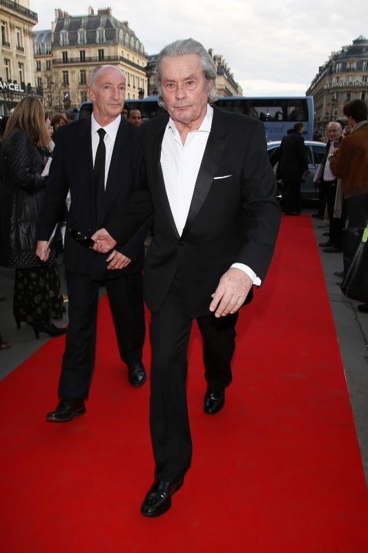 Alain Delon au gala de l'Opéra Garnier, le 15 avril 2013 à Paris