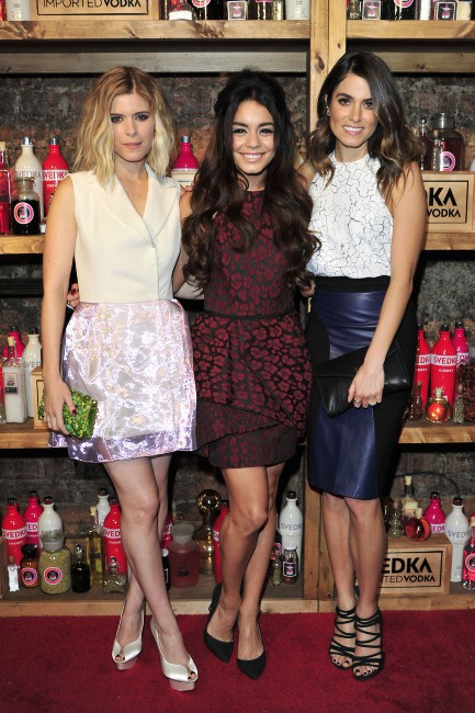 """Vanessa Hudgens, Nikki Reed et Kate Mara lors de la soirée """"Shot Through The Heart Valentines Day Bash"""" à Los Angeles, le 4 février 2014."""