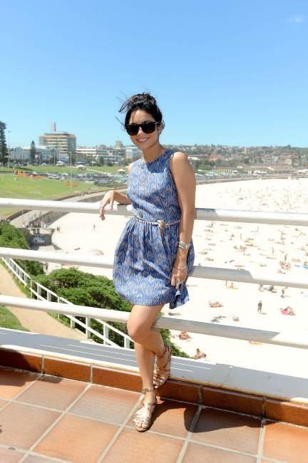 Vanessa Hudgens lors du photocall du film Voyage au centre de la terre 2 à Bondi Beach à Sydney, le 17 janvier 2012.