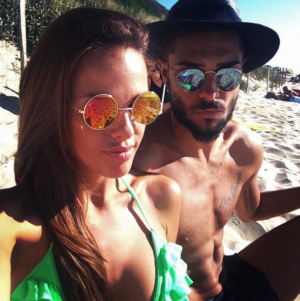 Photos : Vanessa Lawrens et Julien Guirado : un couple sexy à la plage !