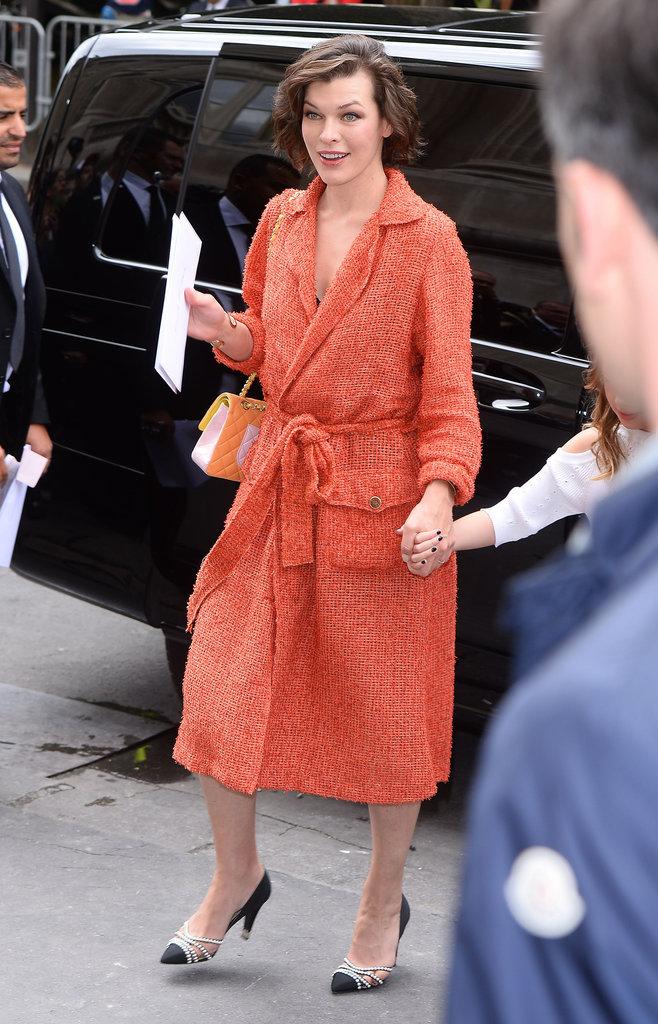 Milla Jovovich à Paris le 5 juillet 2016