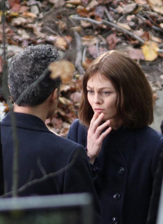 Vanessa Paradis sur le tournage de son nouveau film à New-York le 26 octobre 2012