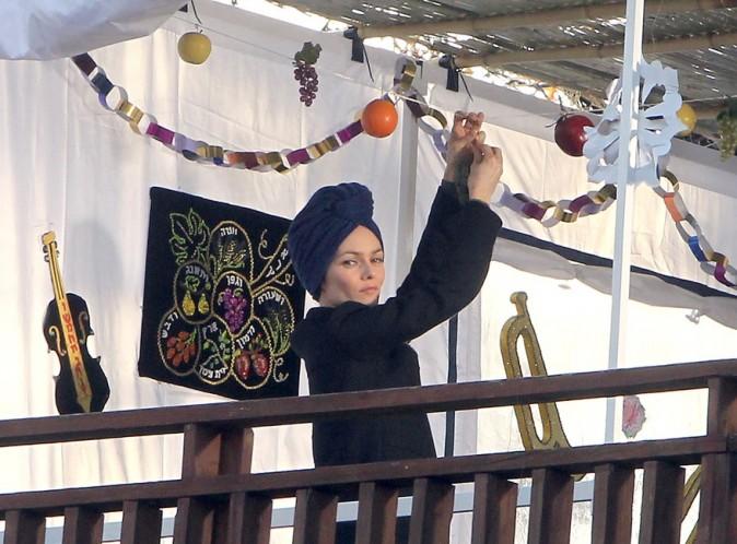Vanessa Paradis sur le tournage de Fading Gigolo à New-York le 16 novembre 2012