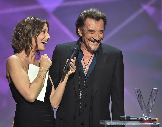 Johnny Hallyday et Virginie Guilhaume