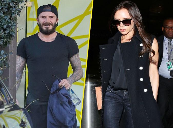 Victoria Beckham : contrairement � son homme, elle se fait belle pour leurs retrouvailles...